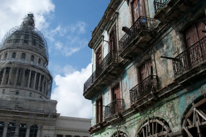 Students visit the National Capitol Building in Havana. (Photo courtesy of Christina Garrity)