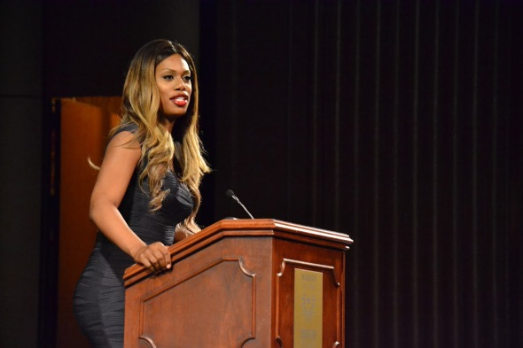 Cox gives her perspective on the struggles many transgender people face. (Kim Iannarone / The Signal Photo Editor)