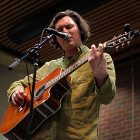 The Front Bottoms singer serenades students in soloshow